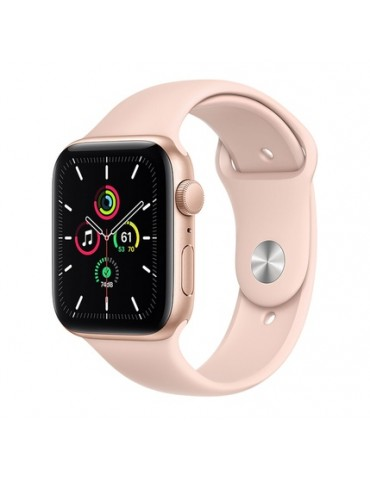 Apple Watch SE 44mm Gold Aluminum Case with Pink Sport Band